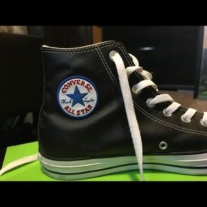 Converse Shoes - Leather converse high tops